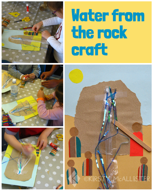 Water from the rock craft. Fun activity to follow the story of Moses and the Israelites.