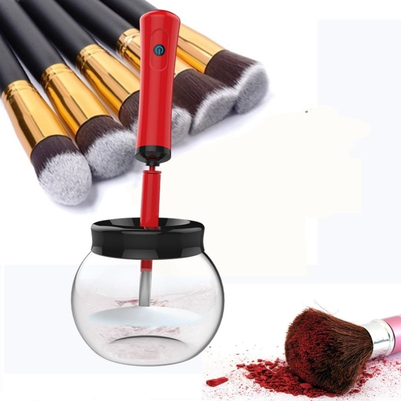 Photo of 2018 New Electric Makeup Brush Cleaner & Dryer Set Make Up Brushes Washing T…