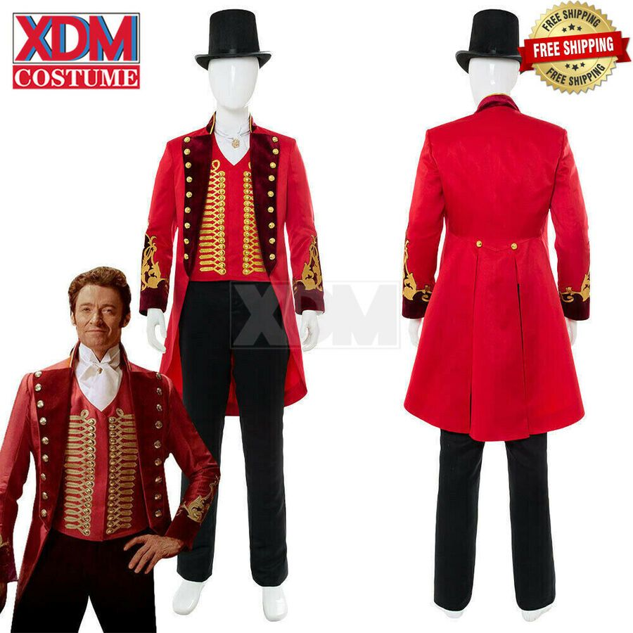 The Greatest Showman Phillip Carlyle Cosplay Costume Ringmaster suit Full Set