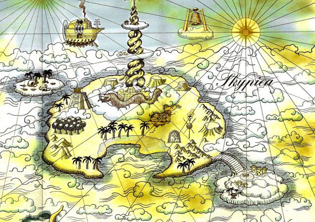 Skypiea World Map Art One Piece Anime Artist Blog