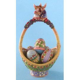 """ Gathering Joy""-2007 Easter Basket with Eggs-Jim Shore"