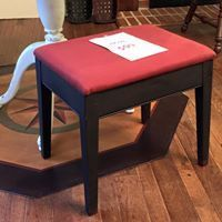 Red Upholstered Bench