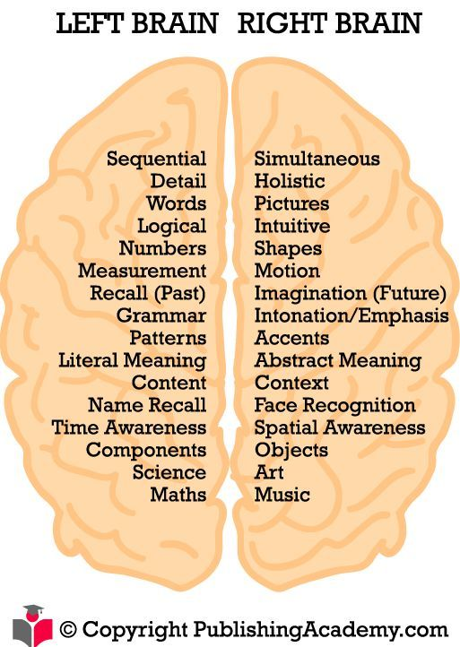 Left and Right Brain Hempishpere Functions: you gotta love ...
