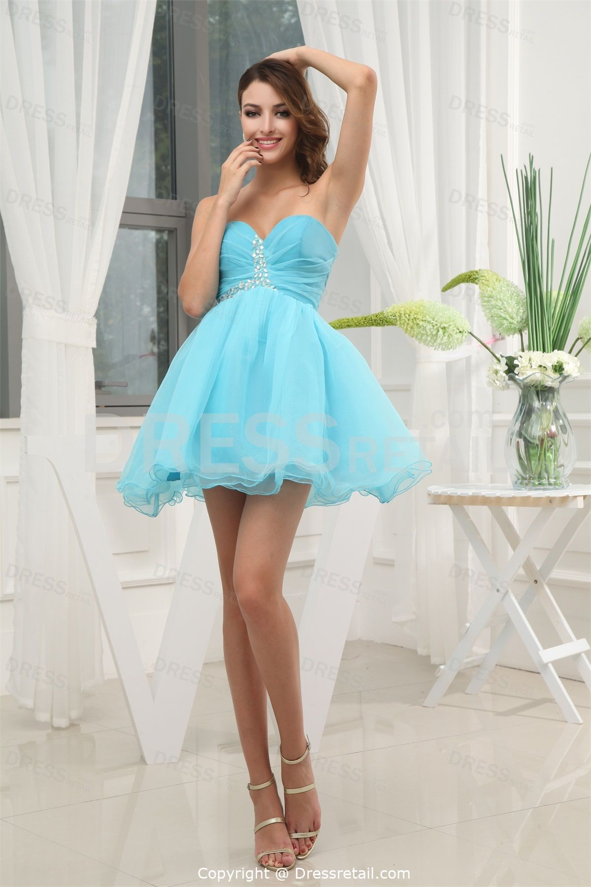 Sweet dresses dresses uebeading sweet mini blue taffeta