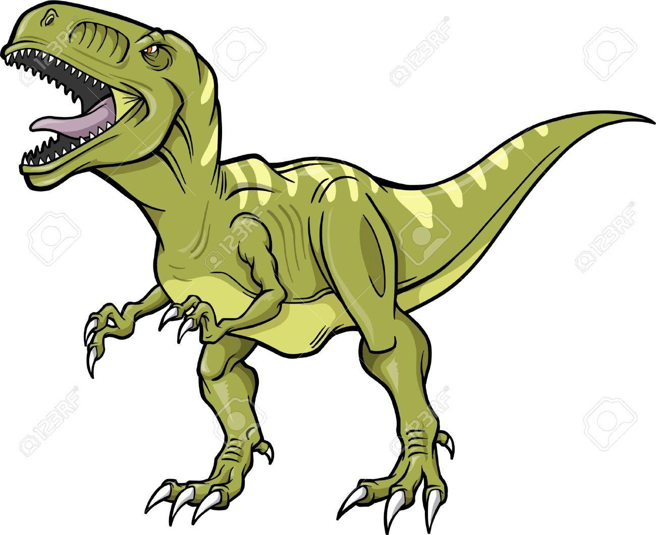 T-rex Dinosaur Vector Illustration Royalty Free Cliparts, Vectors ...