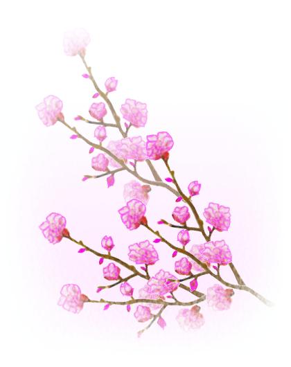 桃の花 イラスト Google 検索 ももモモ桃peach Blossompeach