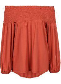 Blusa ciganinha marrom avermelhado comprar on-line - bonprix.de