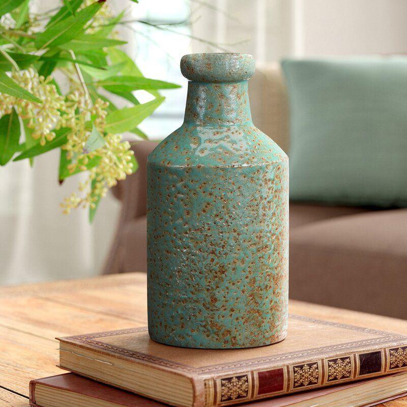 Three Posts Chouteau Ceramic Milk Jug Table Vase Reviews Wayfair In 2020 Table Vases Floor Vase Wood Floating Shelves