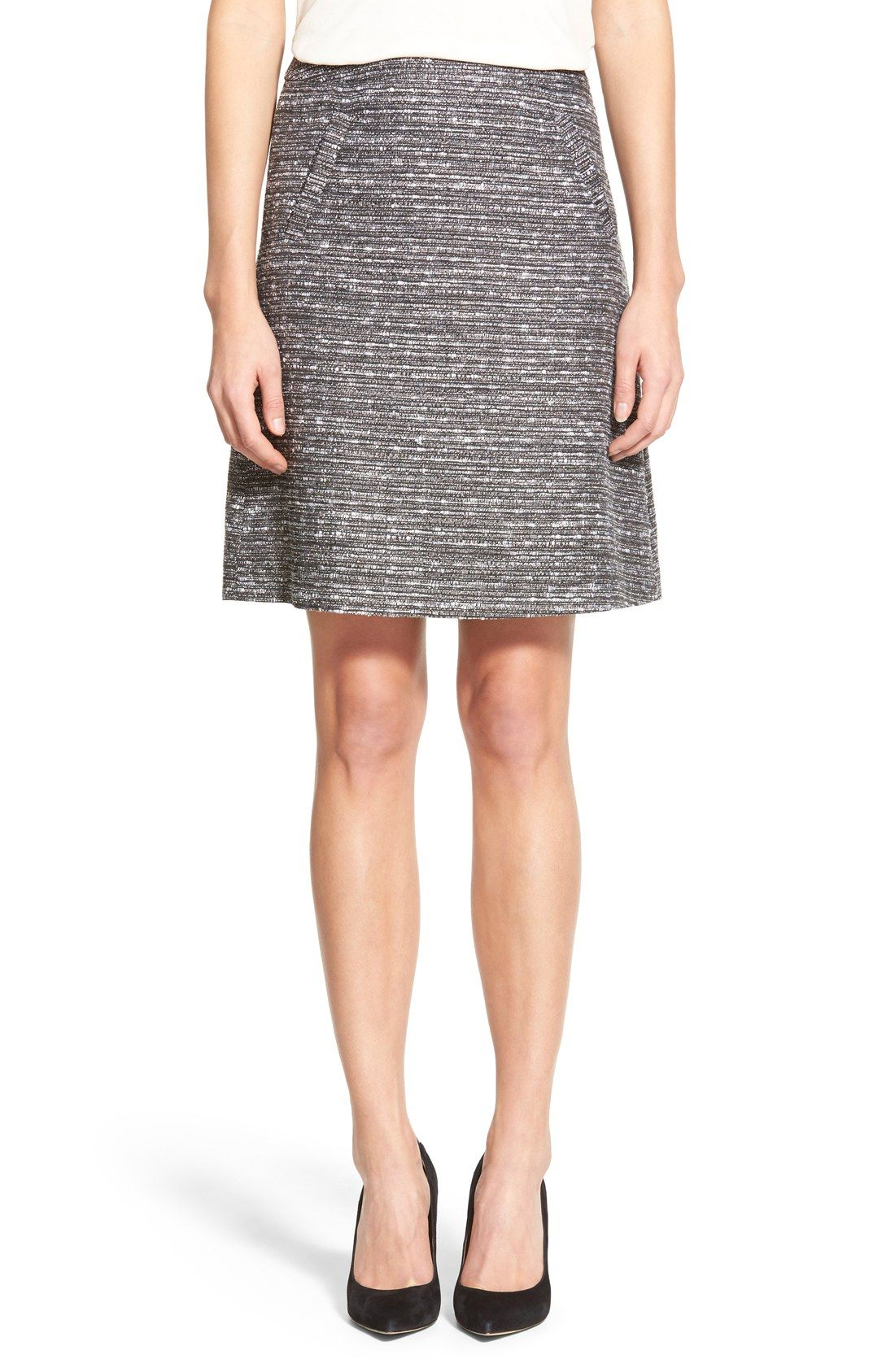 a46b8322eb Halogen® Welt Pocket A-Line Skirt (Regular & Petite) from Nordstrom - a  great textured skirt to wear with your white and black structured tops for  work.