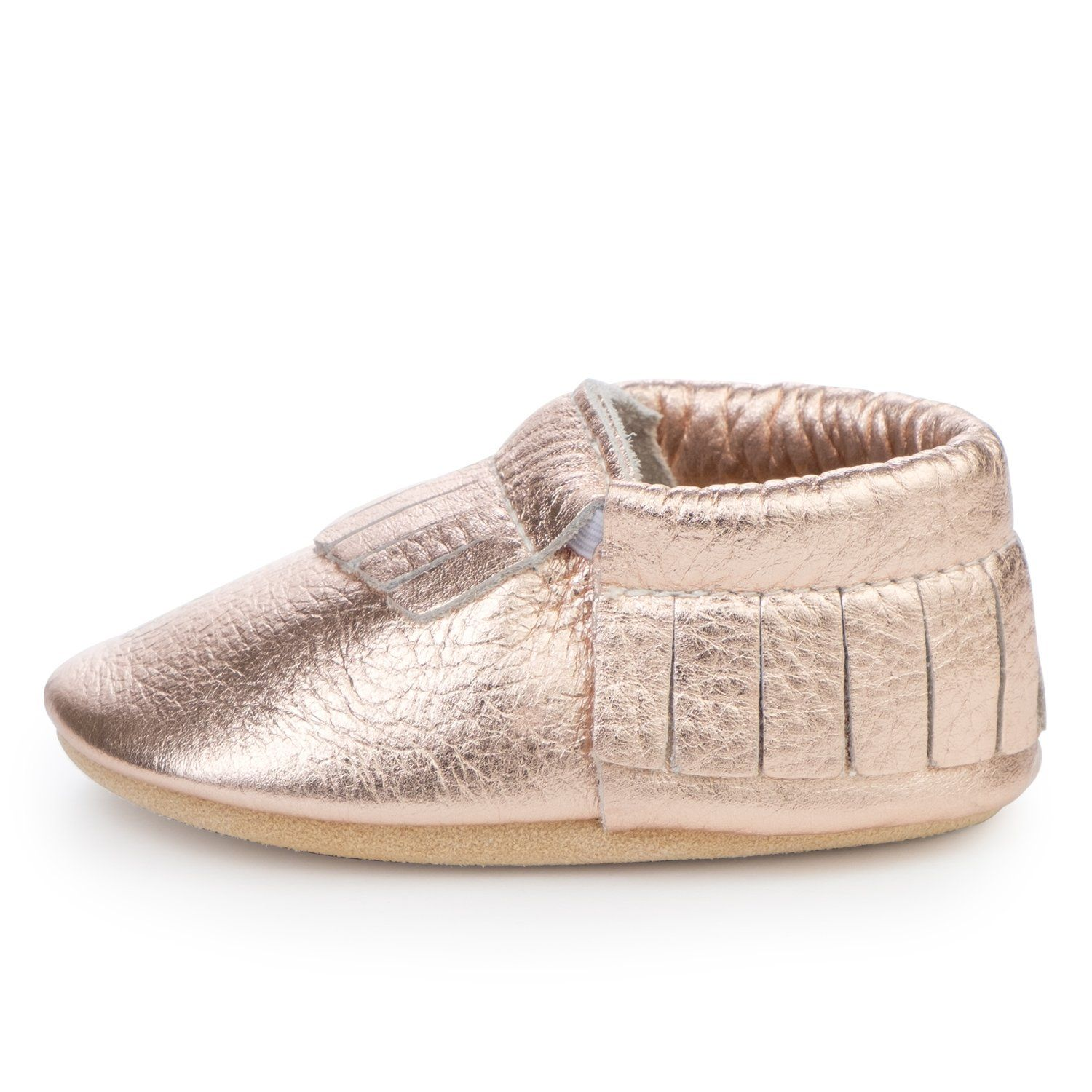 a3193b34fae17 BirdRock Baby - Rose Gold Baby Moccasins in 2019 | Products | Baby ...