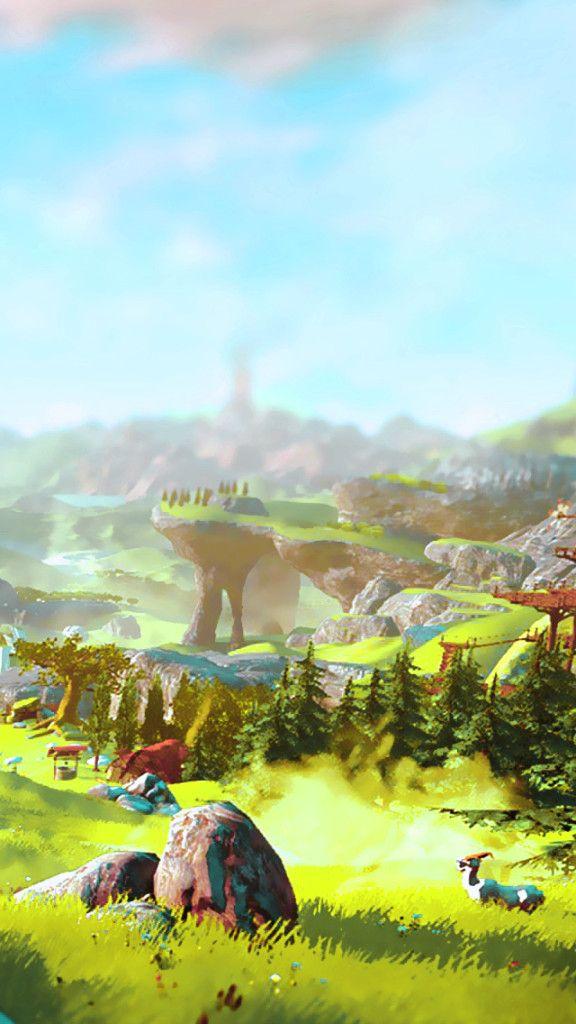 Iphone Legend Of Zelda Breath Legend Of Zelda Fantasy Landscape