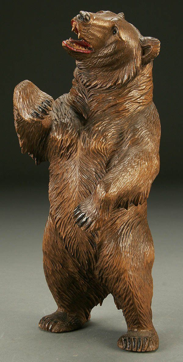 Tree Carving Wood Bear Statue Outdoor Projects Whittling