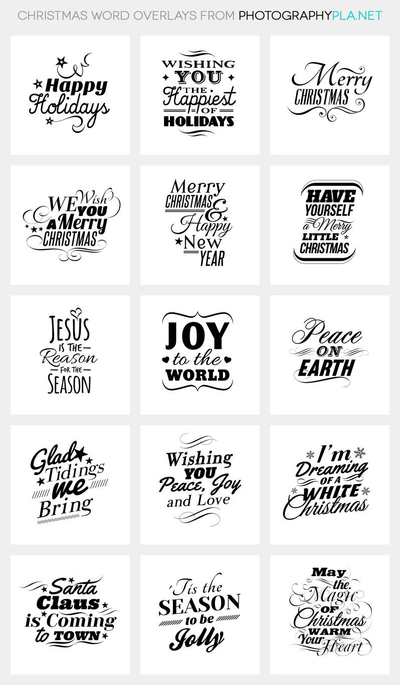 christmas word overlays - Christmas Overlays