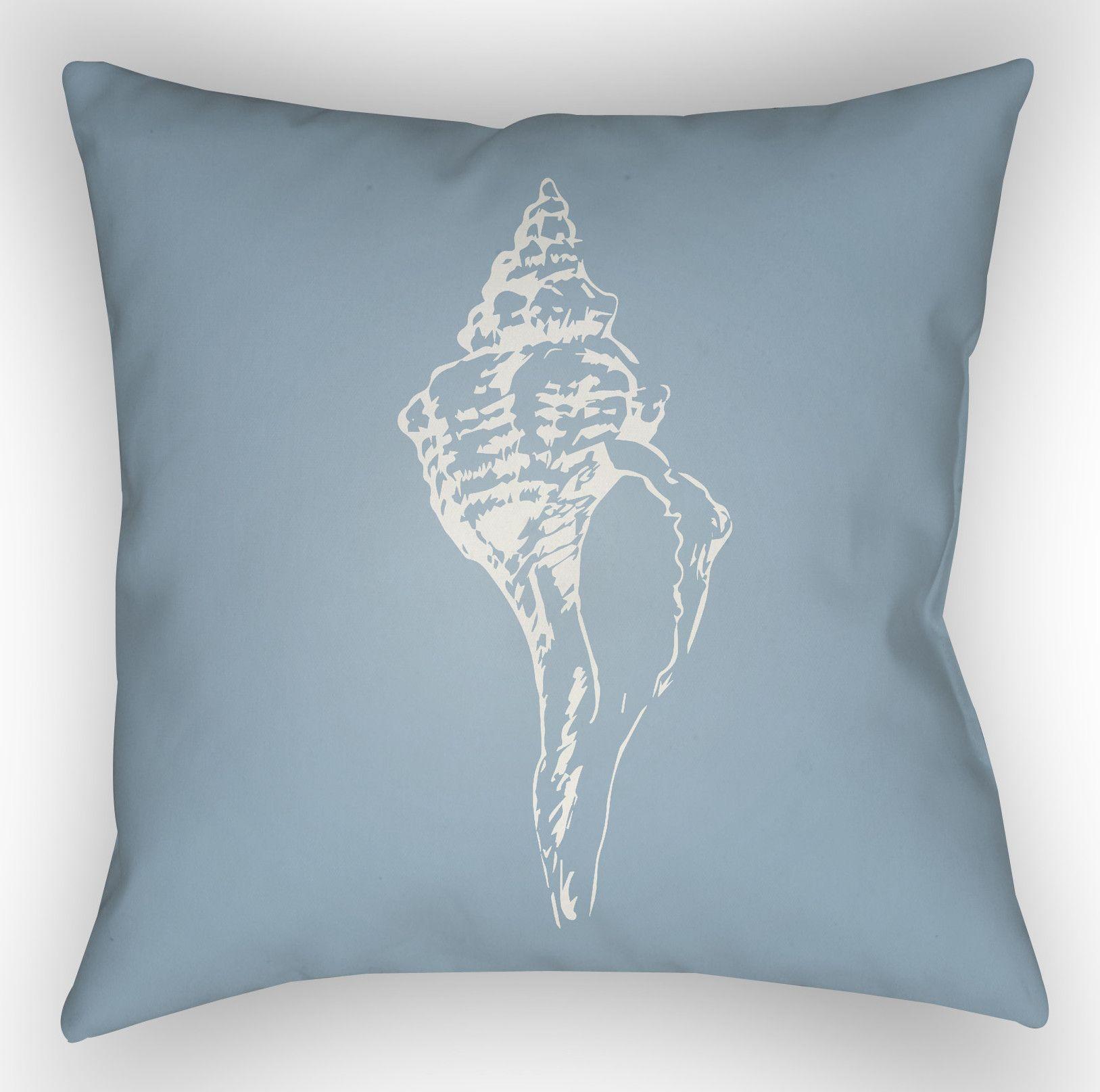 Brookline Shells Indoor/Outdoor Throw Pillow