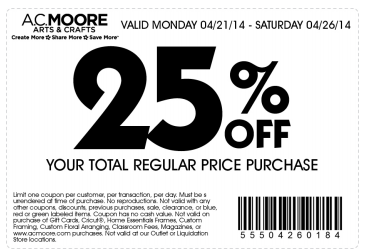 Michaels Joanns Hobby Lobby And Ac Moore Coupons Cricut