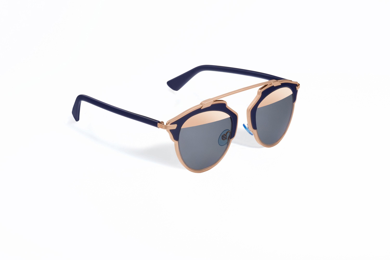 lunettes dior so real bleu marine et or rose accessoires dior sunnies pinterest