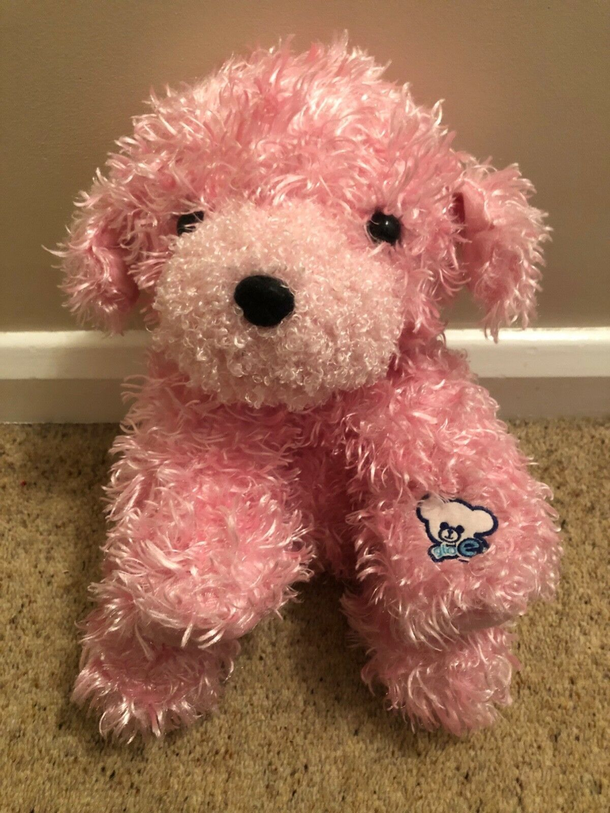 Details About Glo E Pink Soft Teddy Dog Light Glow Up Friend U K