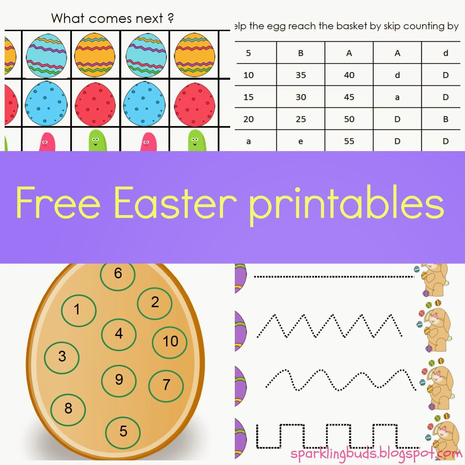 Free Easter Printables For Ages 3 6 From Sparkling Buds