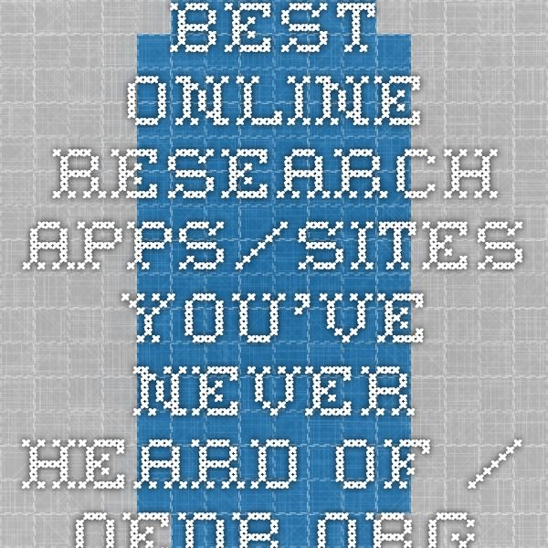Best Online Research Apps/Sites You've Never Heard Of / oedb.org