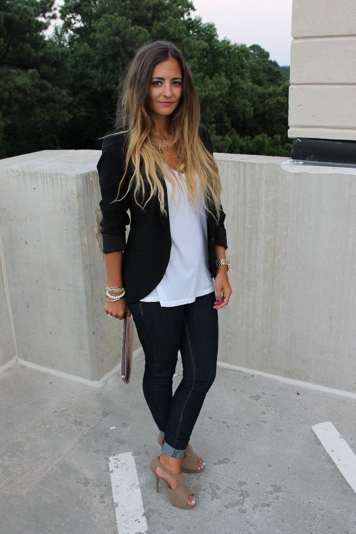 Tuxedo jacket with jeans women - Google Search | Fashion Casual | Pinterest | Jeans women ...