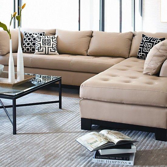 Sectionnel Elite Leather sectional sofa Meubles fait aux USA ...
