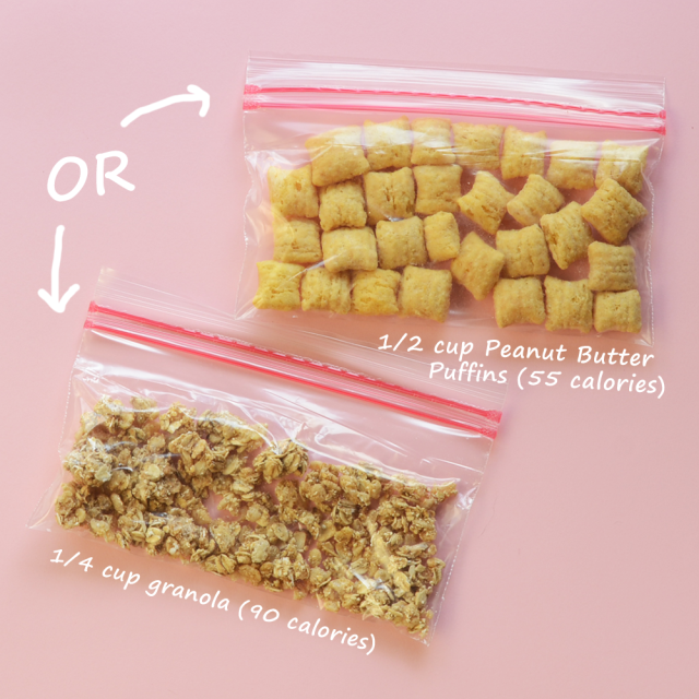Make your own 100 calorie snack packs 100 calorie snacks cereal diy 100 calorie snack pack cereal and granola cookinglight solutioingenieria Choice Image