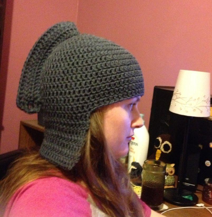 Knight Beanie… in Progress! | Crochet hat pattern, Crochet ...