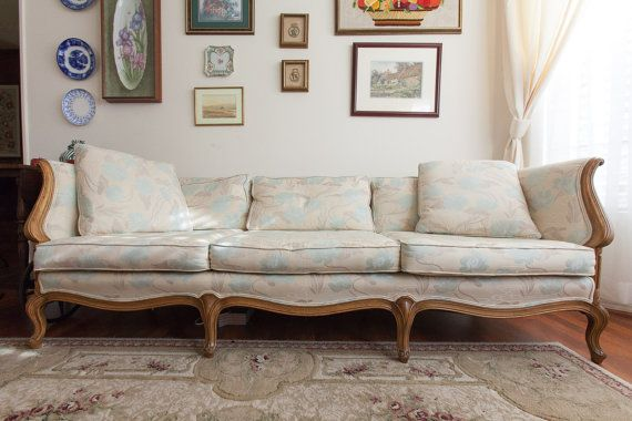 Items Similar To Vintage Thomasville Couch Sofa French Provincial On Etsy French Sofa Vintage Sofa Vintage Couch
