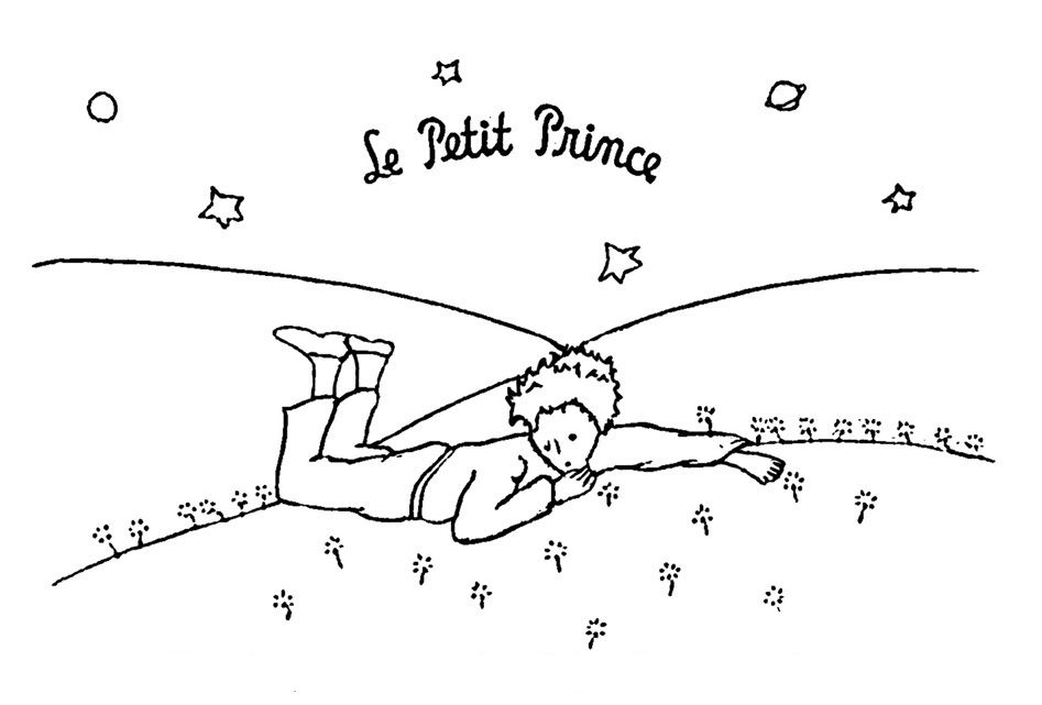 Little Prince Leave His Planet with Migrating Birds coloring page ...
