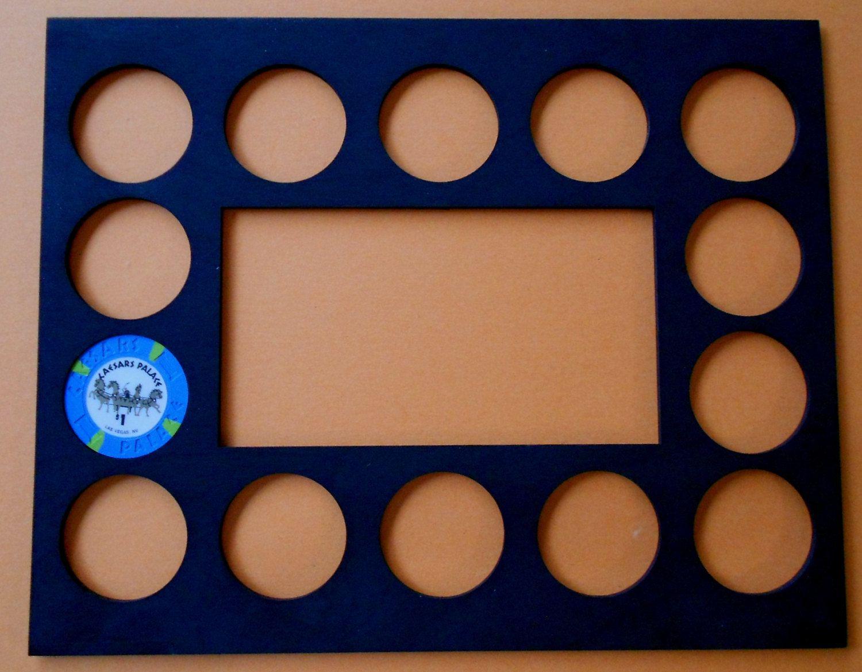 Poker Chip Display Frame Insert Fits 14 Harley Davidson