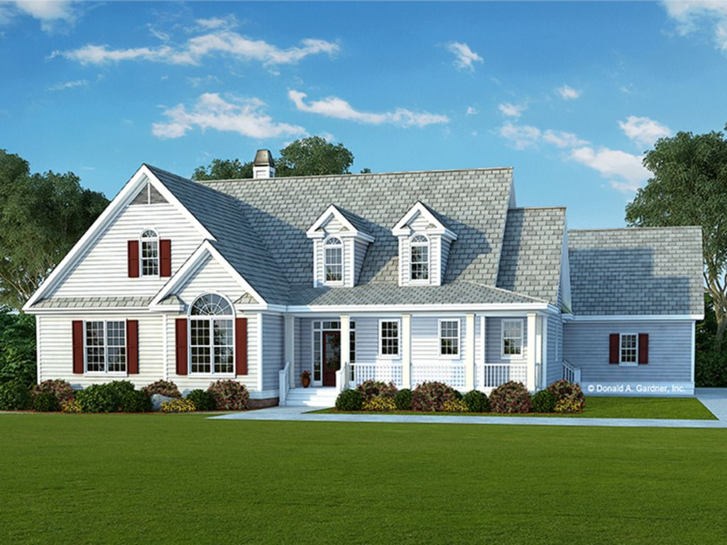 Exterior home design one story  Country Exterior  Front Elevation Plan   Houses
