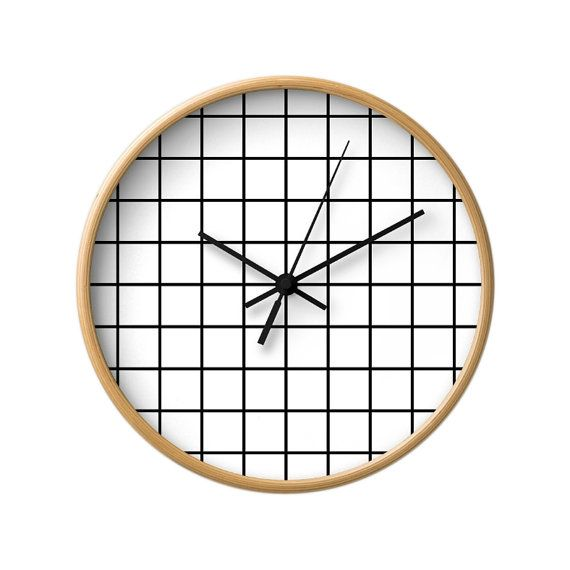 Grid Wall Clock That Will That Will Liven Up Any Room Dimensions 10 Inch Diameter 1 75 Inches Dee Wall Clock Black And White Monochrome Decor White Clocks