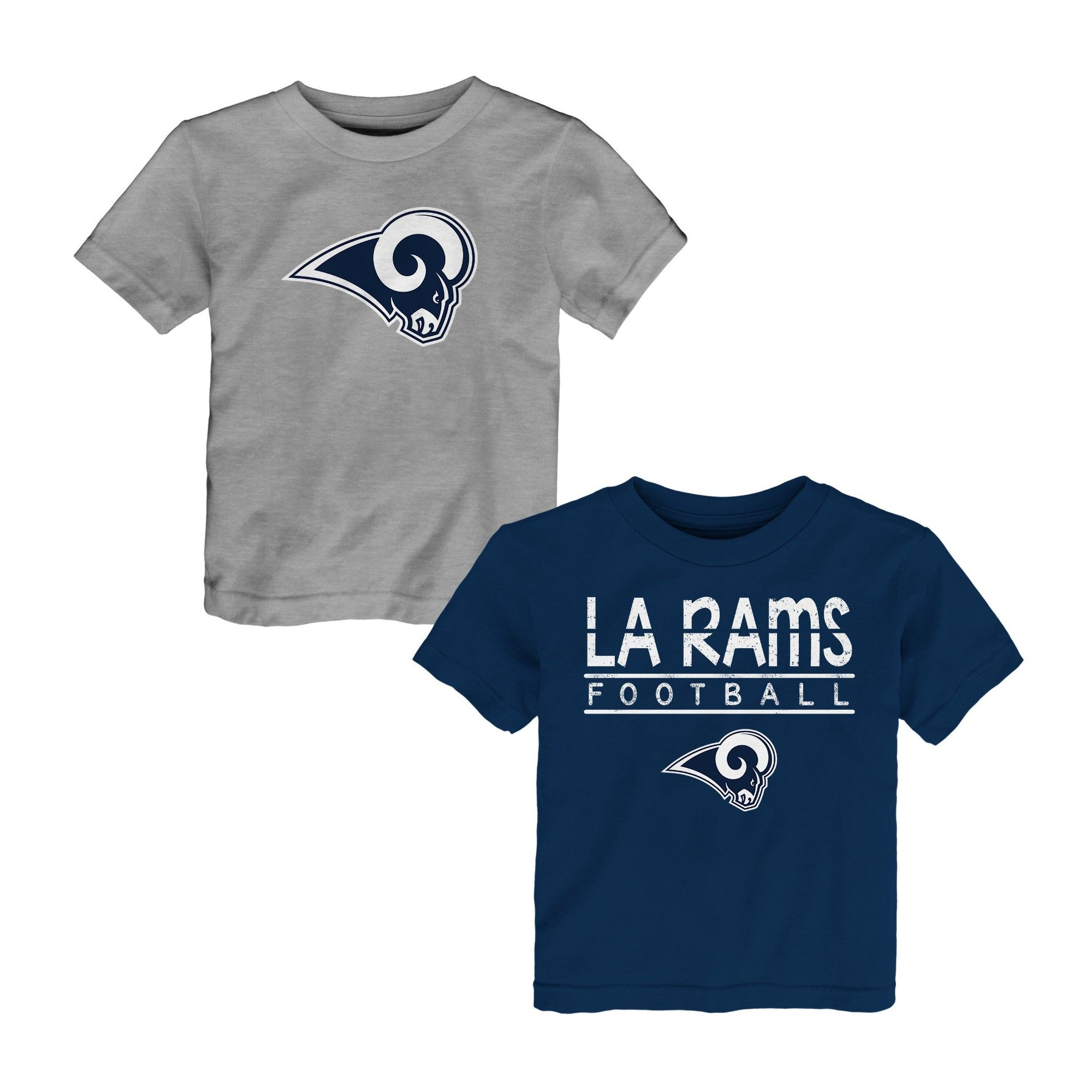 Los Angeles Rams Toddler Boys 2pk T Shirt Set 3T Multicolored