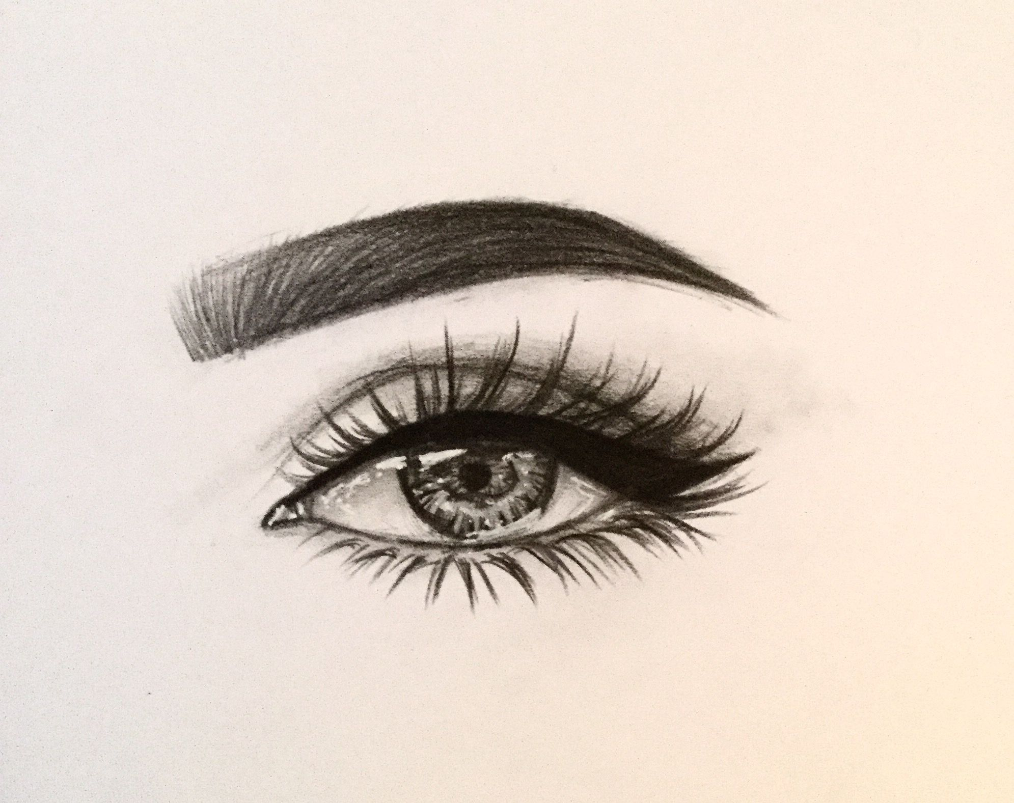 Croqui eye EyeLashesDrawing