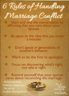 6 Rules of Relationship Conflict