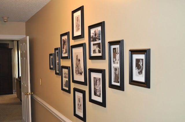 frame cluster in hallway | Home | Pinterest | Gallery wall, Walls ...