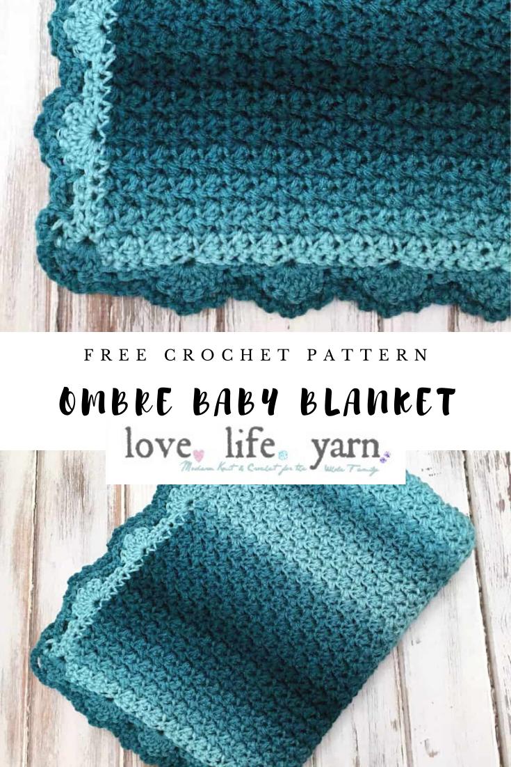 Elegant Ombre Baby Blanket