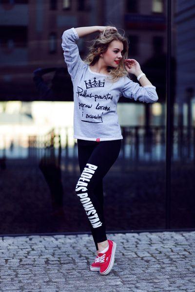 Legginsy Czarne Getry Spodnie Legins Z Napisem Cool Outfits Fashion Outfits