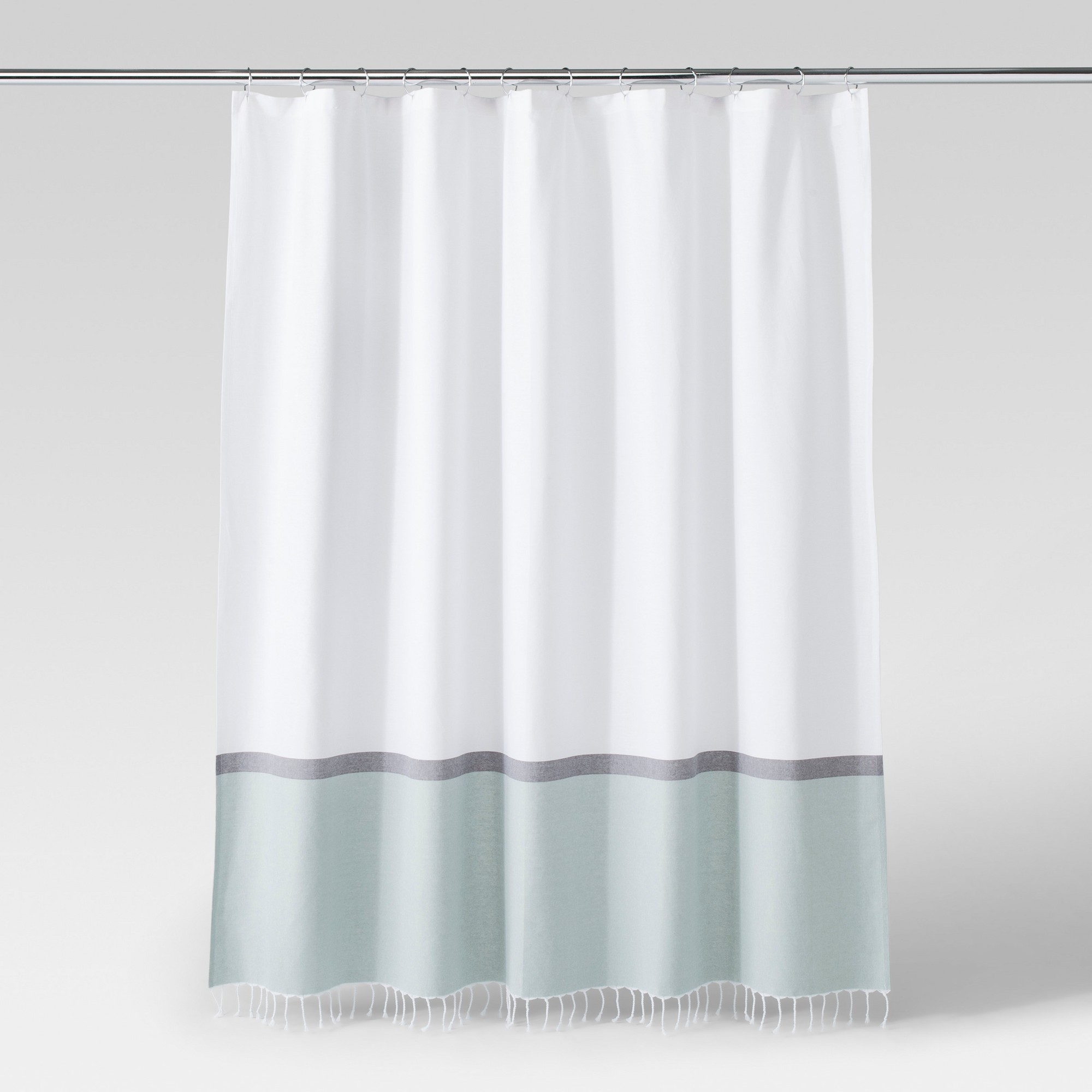 Woven Shower Curtain Green White Project 62 In 2019 White