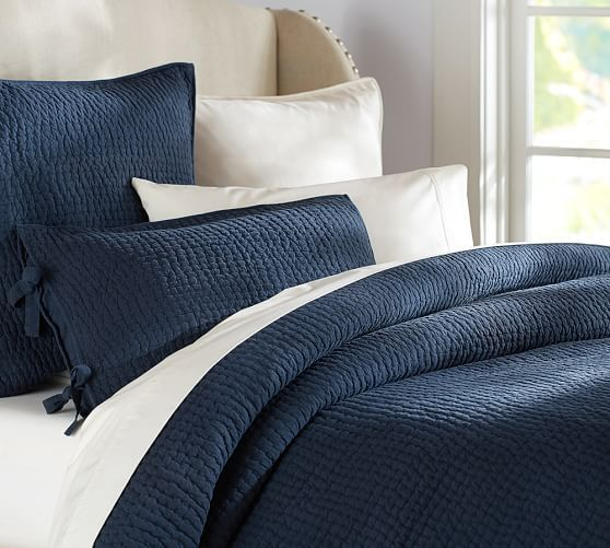 $100 Quilted Coverlet, Navy And Other Colors Http://www.potterybarn.