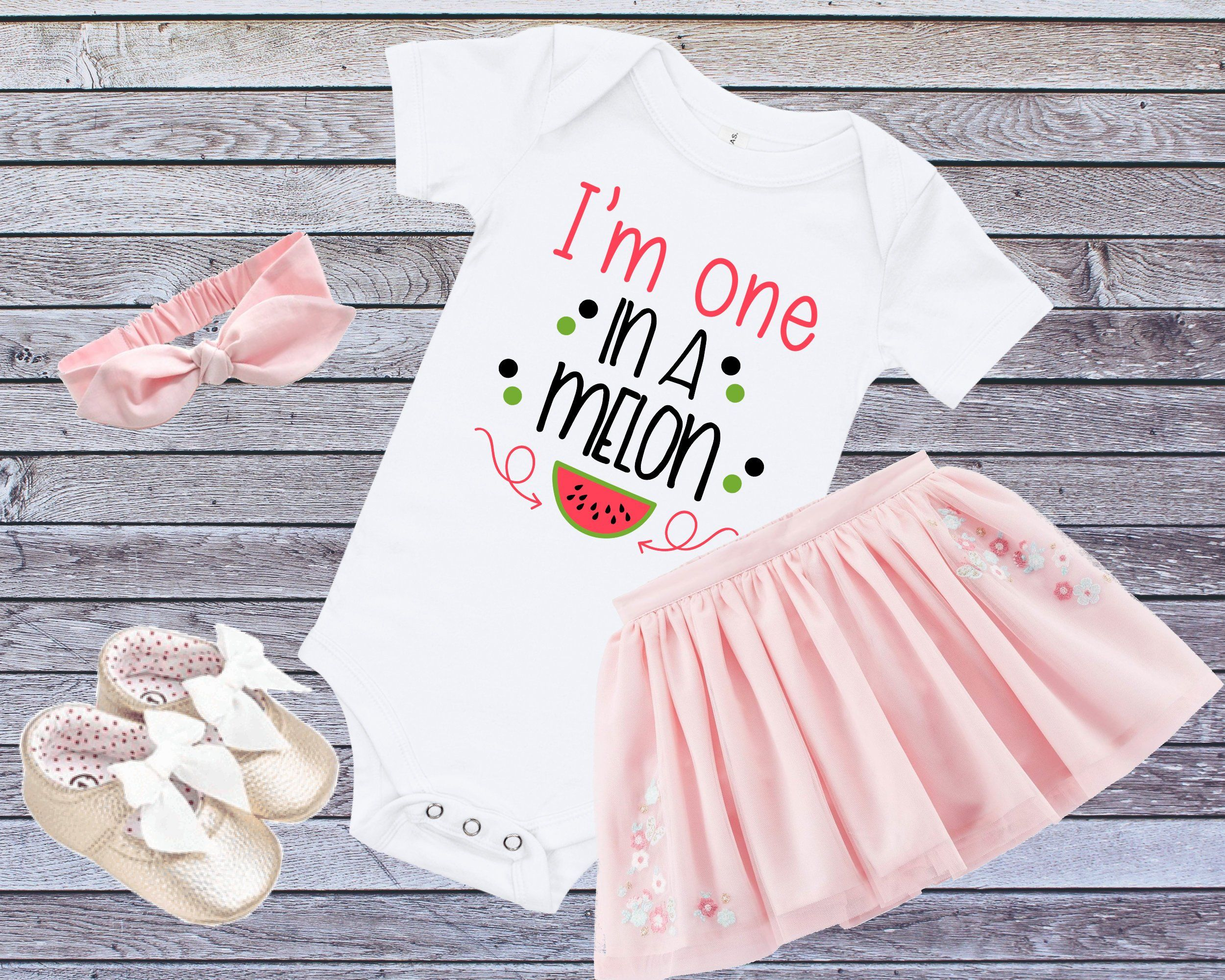 51a62fc4b Melon 1st Birthday, Girls 1st Birthday Shirt, First Birthday Shirt, Girl  One Outfit, One In A Melon Party, Melon Birthday, One Year Old Gift