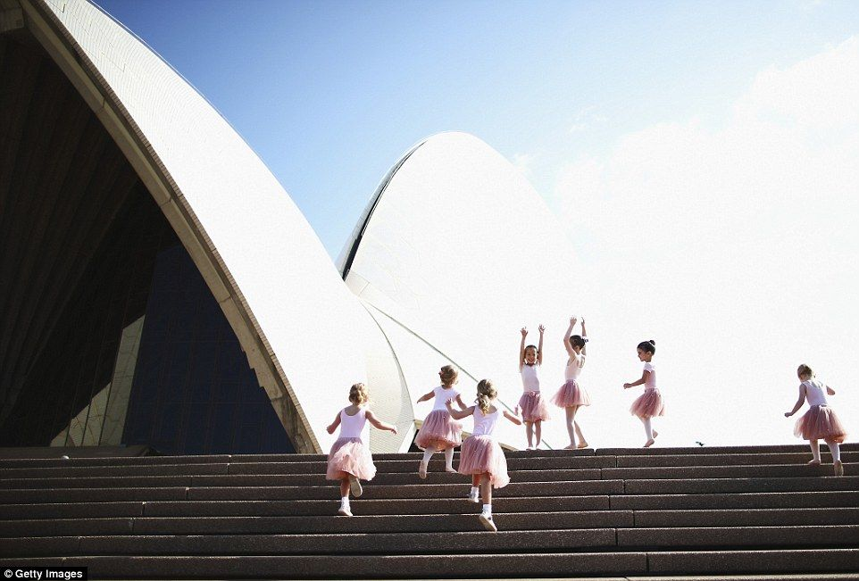 Beautiful ballerinas: Thirty tiny dancers, aged between three and five years old, took to ...