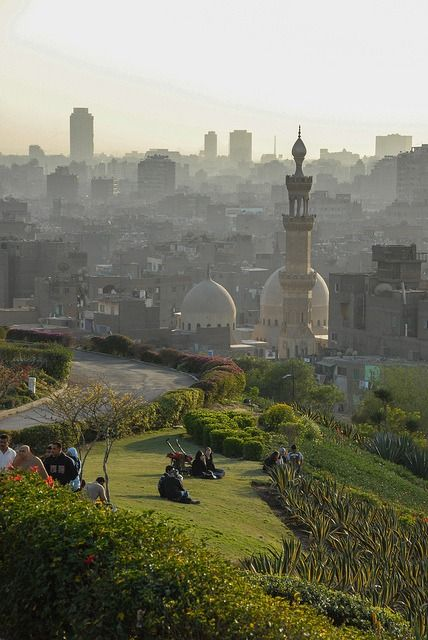 Visitheworld City View From Azhar Park Cairo Egypt By