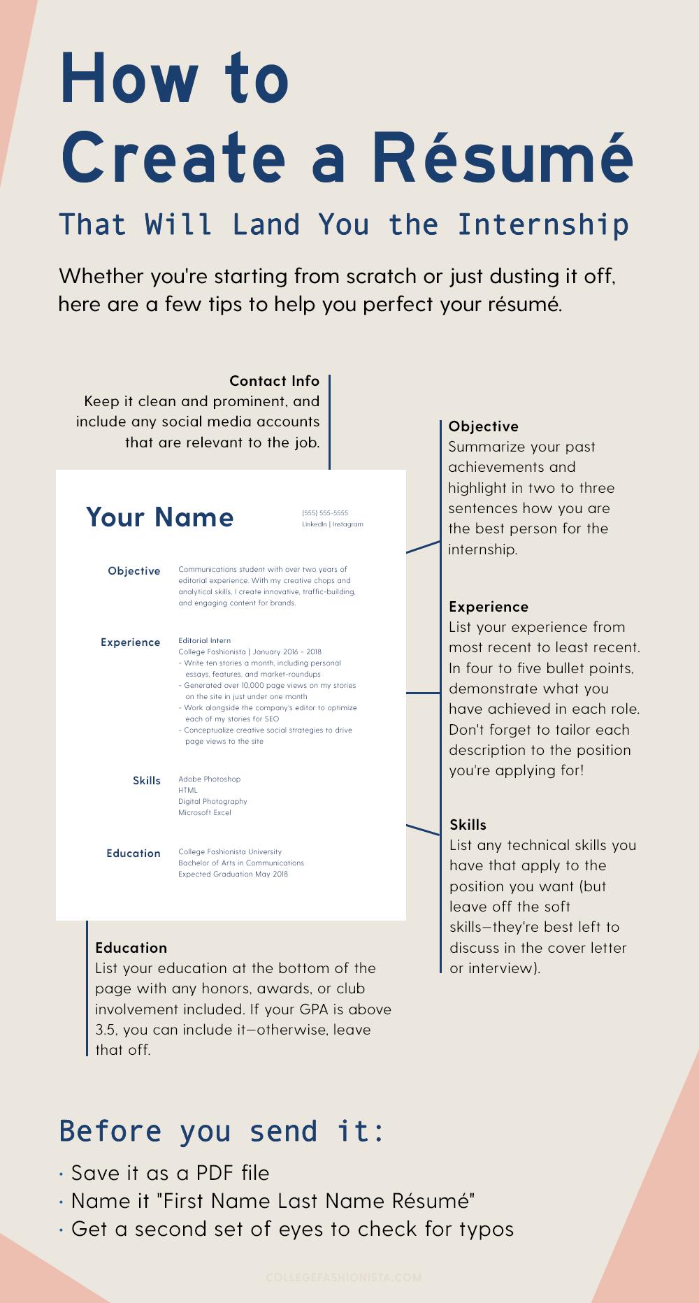 23 Résumé Tips to Help You Land Your Dream Internship
