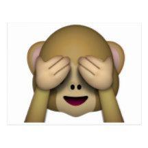 See No Evil Monkey Emoji Postcard Your Spirit Animal Emoji Monkey Emoji