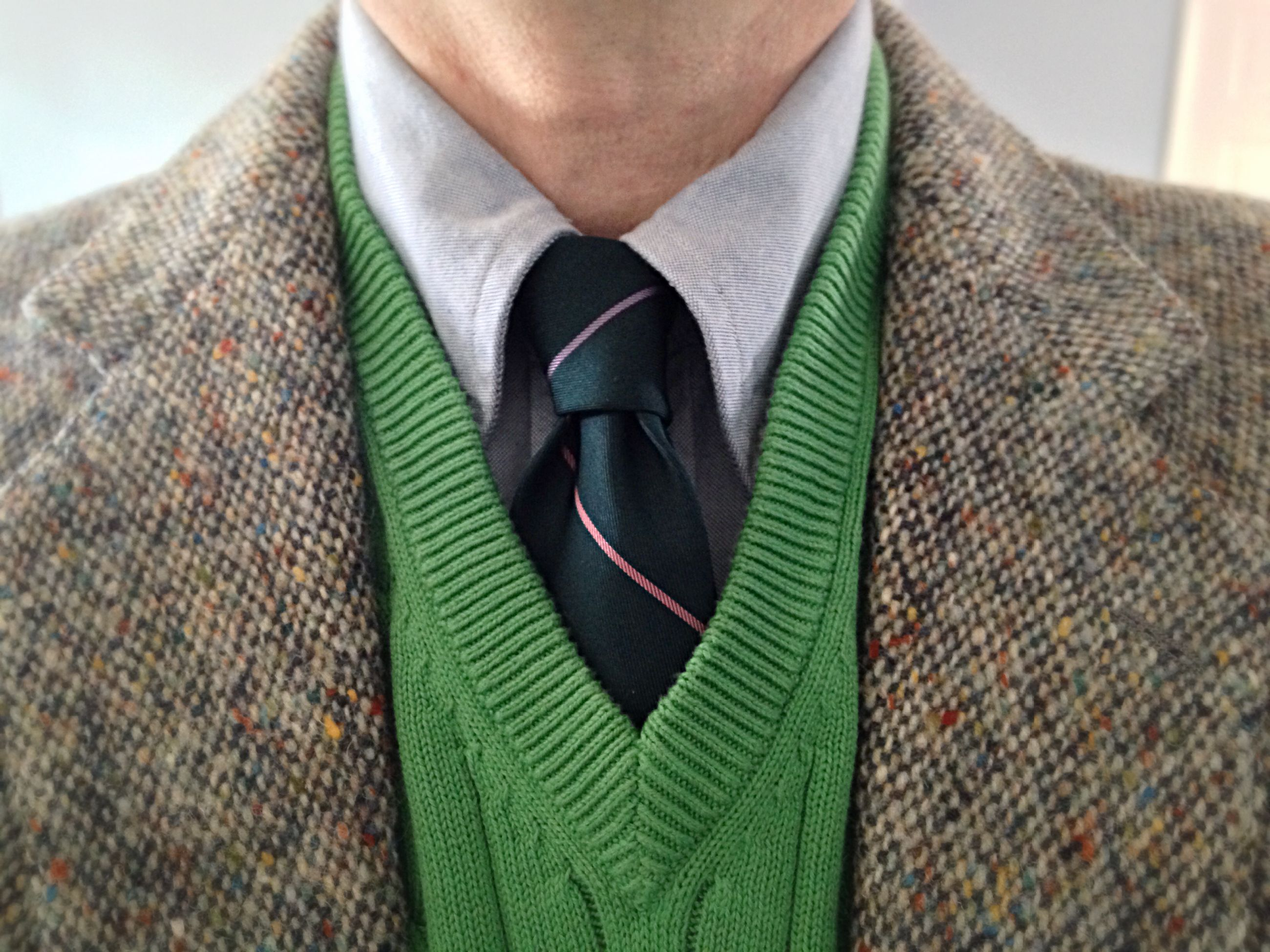 Donegal tweed for Kevin & Howlin, Dublin; Brooks Brothers blue ...