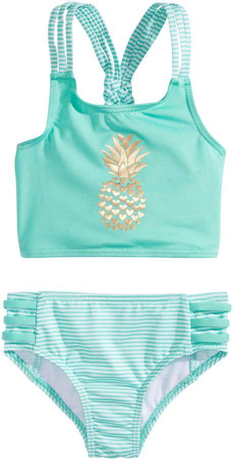 dd0b5fa23b Penelope Mack 2-Pc. Striped Pineapple Bikini, Toddler Girls #toddlergirl,  #promotion