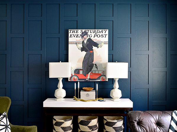 Easy Diy Wainscoting For A Dramatic Accent Wall