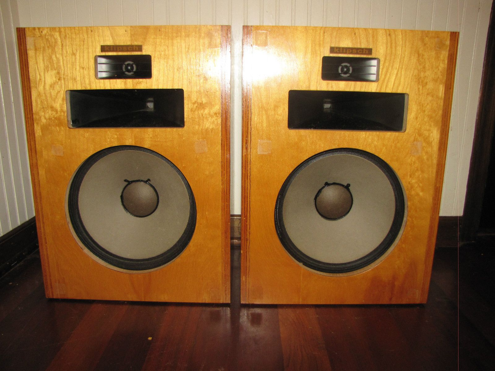 vintage klipsch bookshelf speakers. pair of 1977 vintage klipsch heresy speakers bookshelf