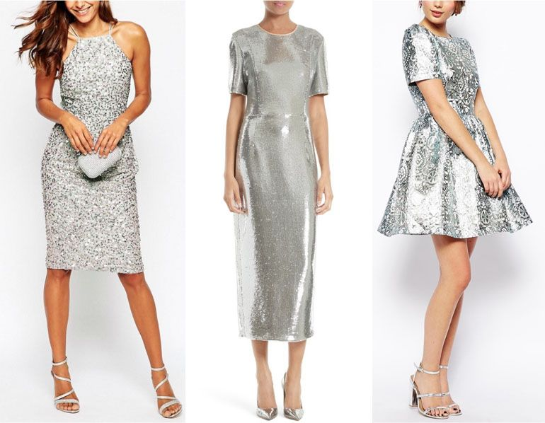 4e40b95efe7 Silver Dress with Silver or White Shoes